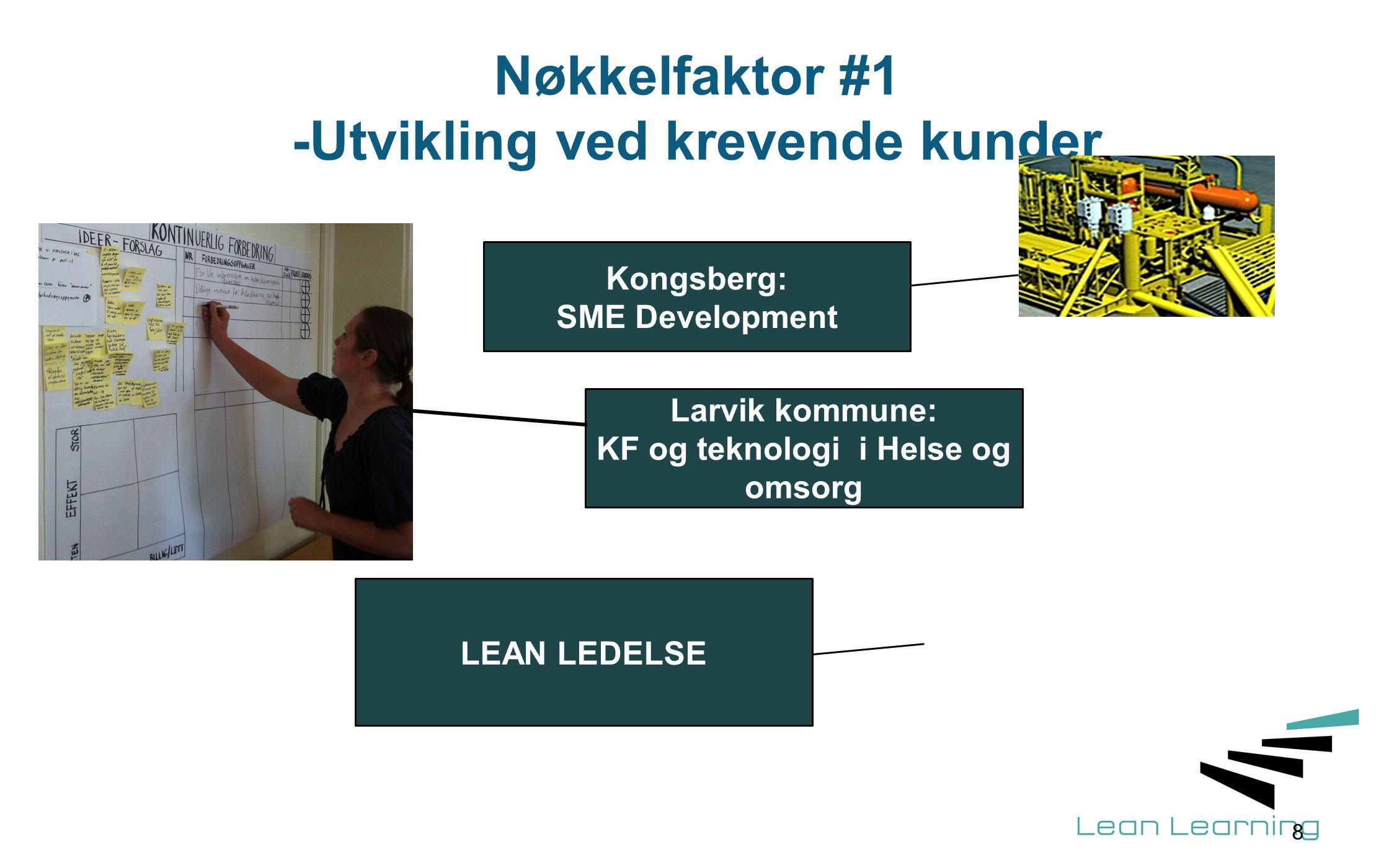 Nøkkelfaktor #1 -Utvikling ved krevende kunder