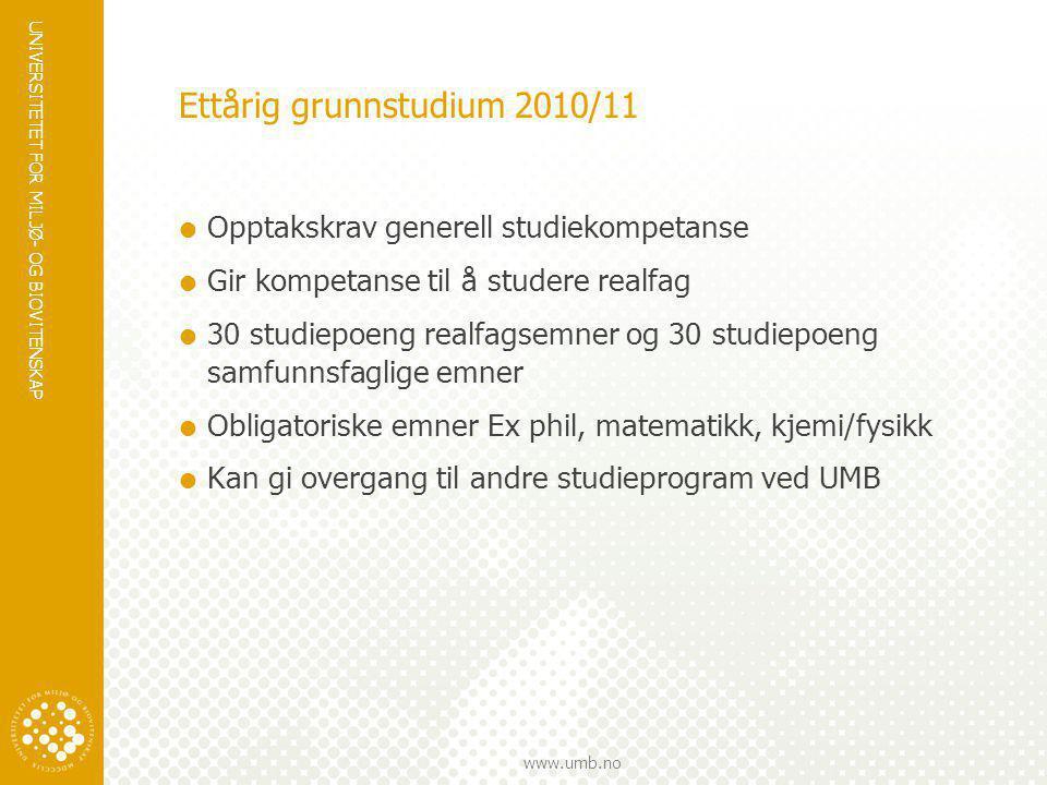 Ettårig grunnstudium 2010/11