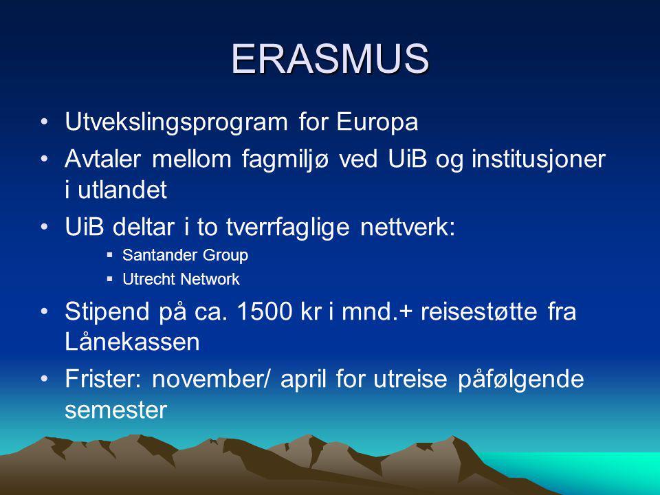 ERASMUS Utvekslingsprogram for Europa