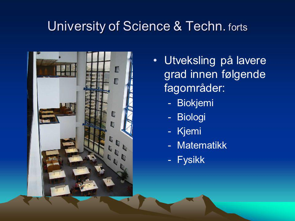 University of Science & Techn. forts