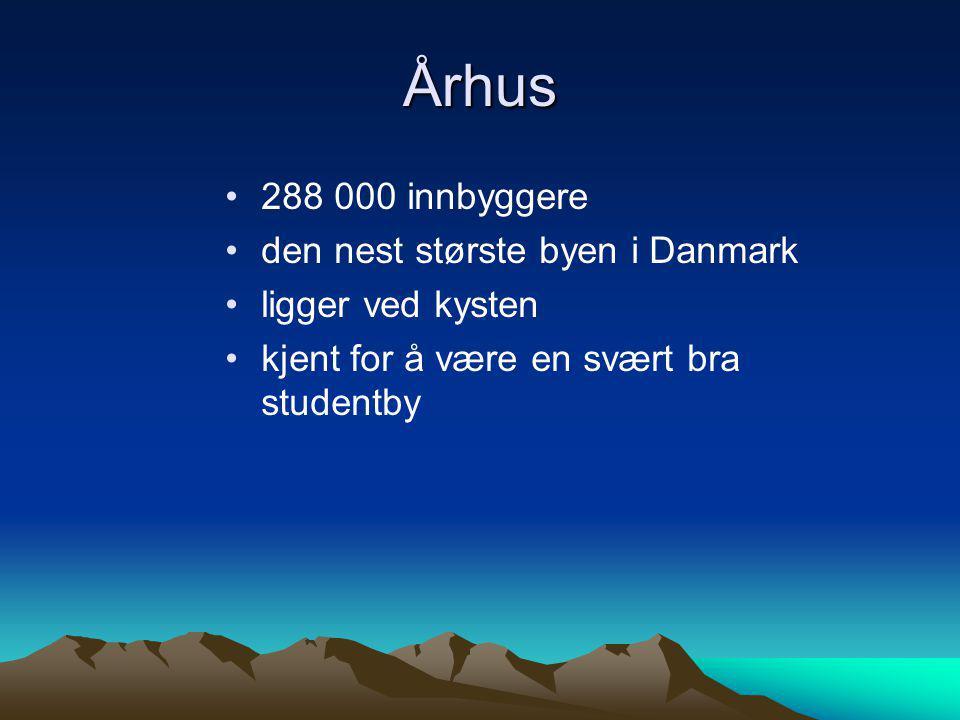 Århus 288 000 innbyggere den nest største byen i Danmark