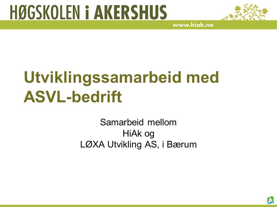 Utviklingssamarbeid med ASVL-bedrift