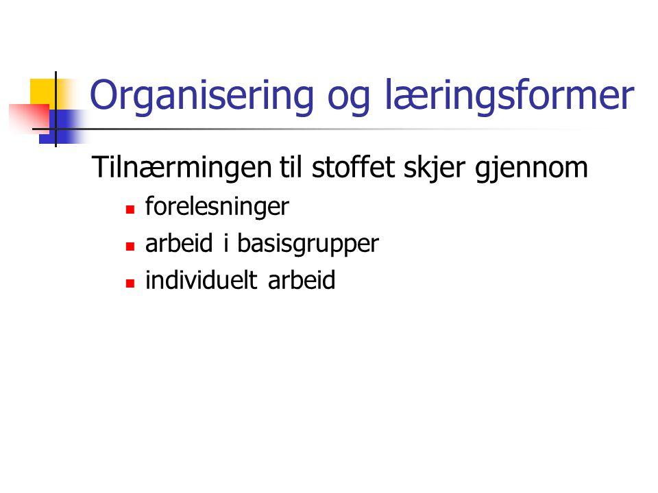 Organisering og læringsformer