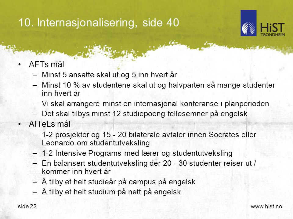 10. Internasjonalisering, side 40