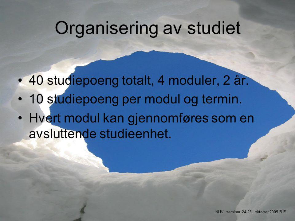 Organisering av studiet