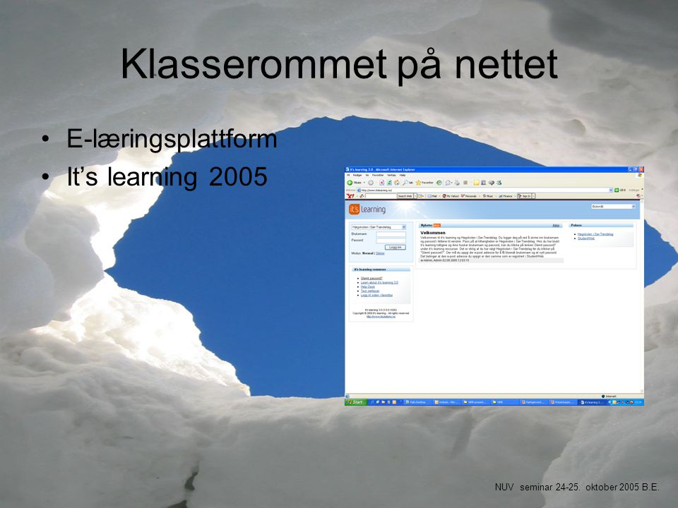 Klasserommet på nettet