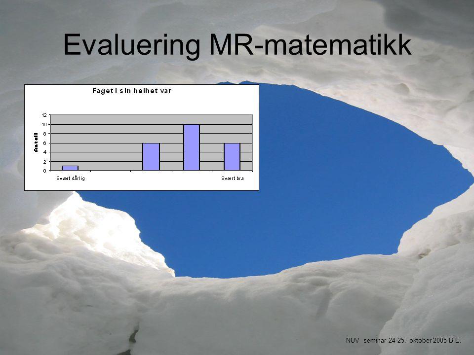 Evaluering MR-matematikk
