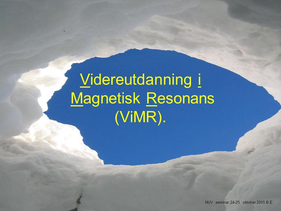 Videreutdanning i Magnetisk Resonans (ViMR).