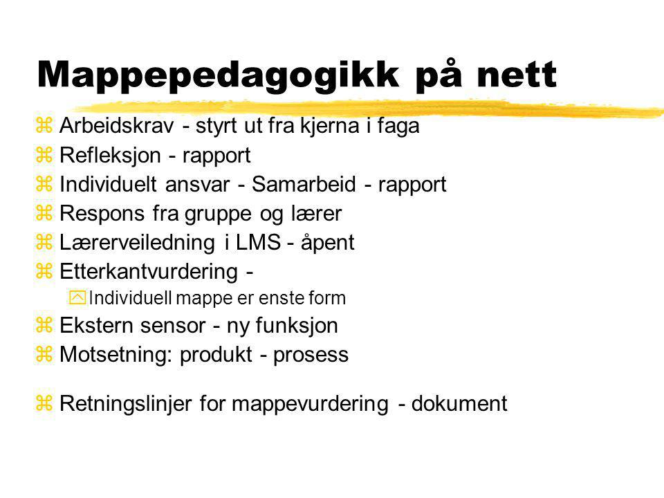 Mappepedagogikk på nett