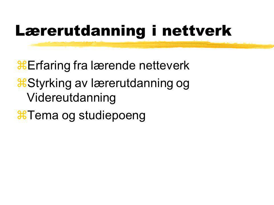Lærerutdanning i nettverk