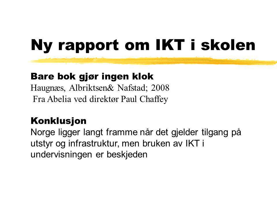 Ny rapport om IKT i skolen