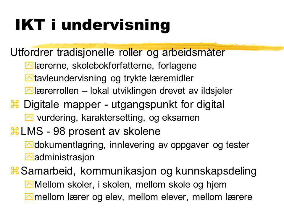 IKT i undervisning Utfordrer tradisjonelle roller og arbeidsmåter