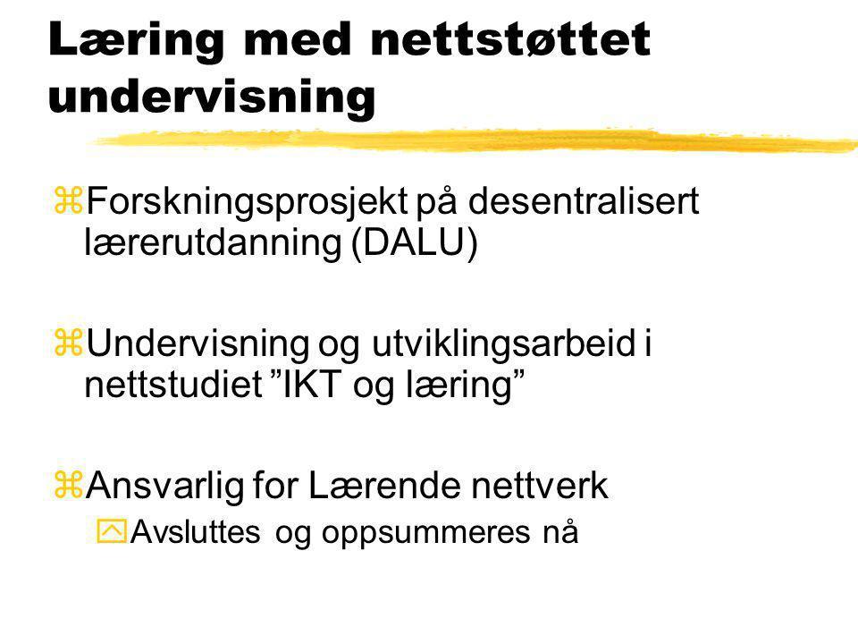 Læring med nettstøttet undervisning