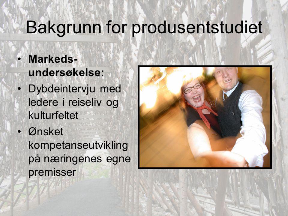 Bakgrunn for produsentstudiet