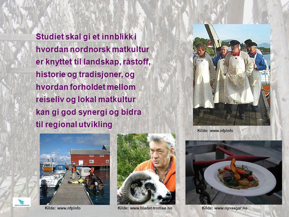 Studiet skal gi et innblikk i hvordan nordnorsk matkultur