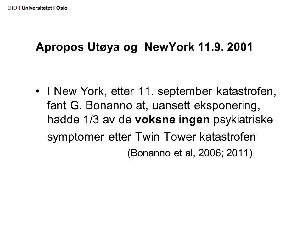 Apropos Utøya og NewYork 11.9. 2001