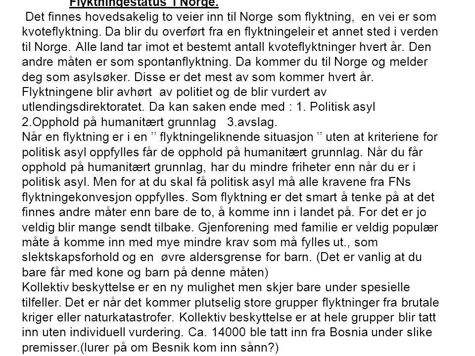 Flyktningestatus i Norge