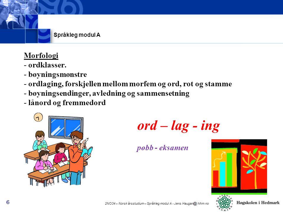 Språkleg modul A