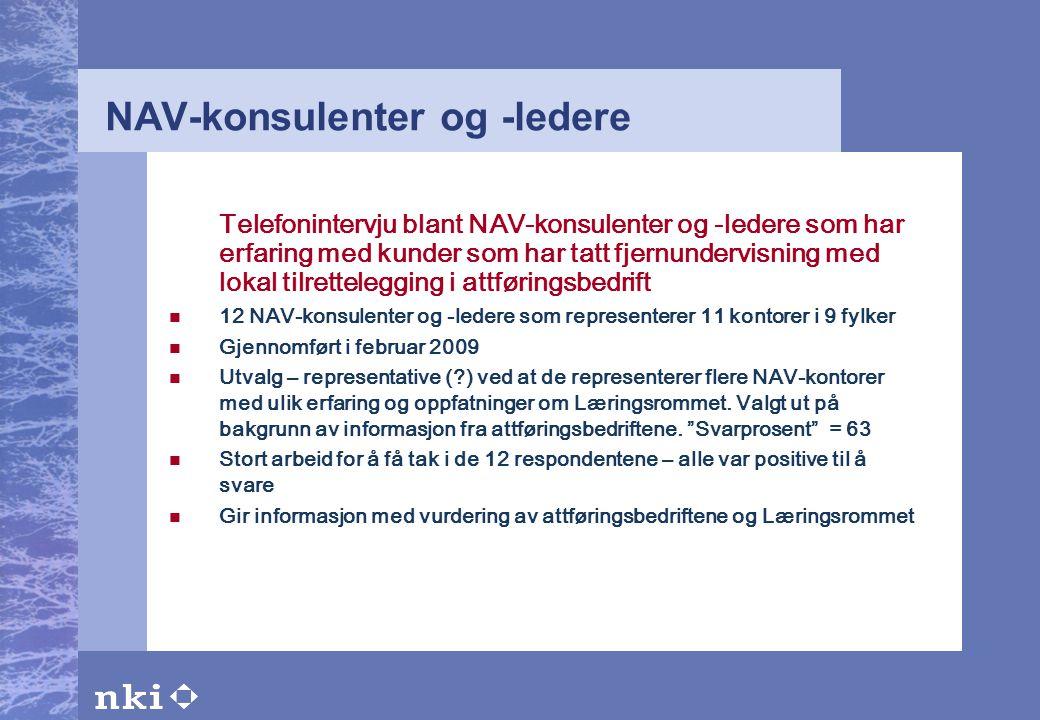 NAV-konsulenter og -ledere