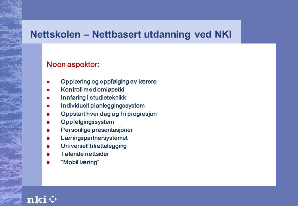 Nettskolen – Nettbasert utdanning ved NKI