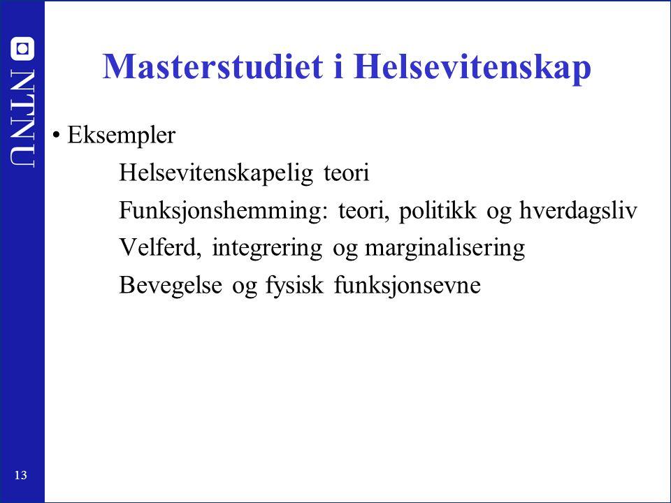 Masterstudiet i Helsevitenskap