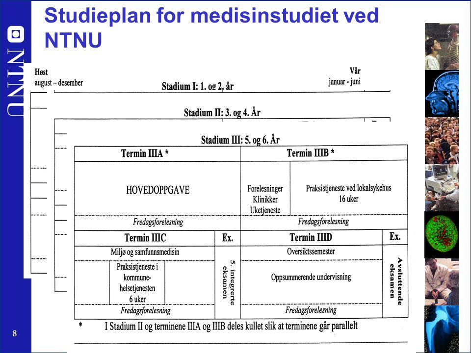 Studieplan for medisinstudiet ved NTNU