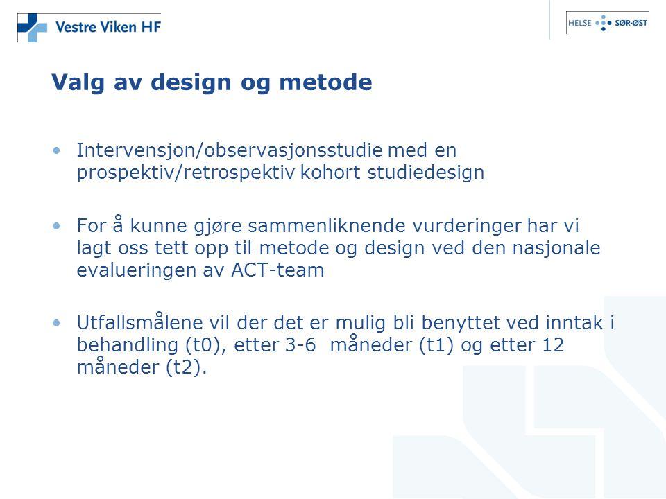 Valg av design og metode
