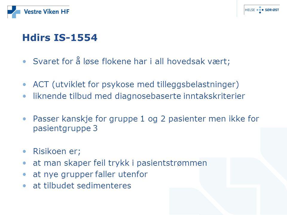 Hdirs IS-1554 Svaret for å løse flokene har i all hovedsak vært;