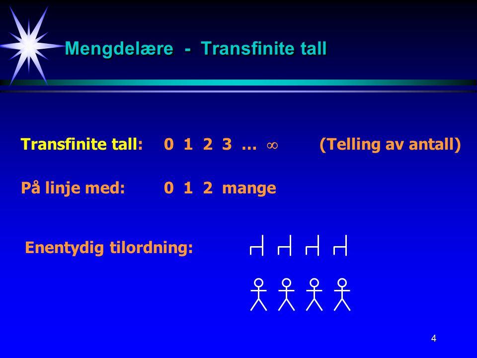 Mengdelære - Transfinite tall