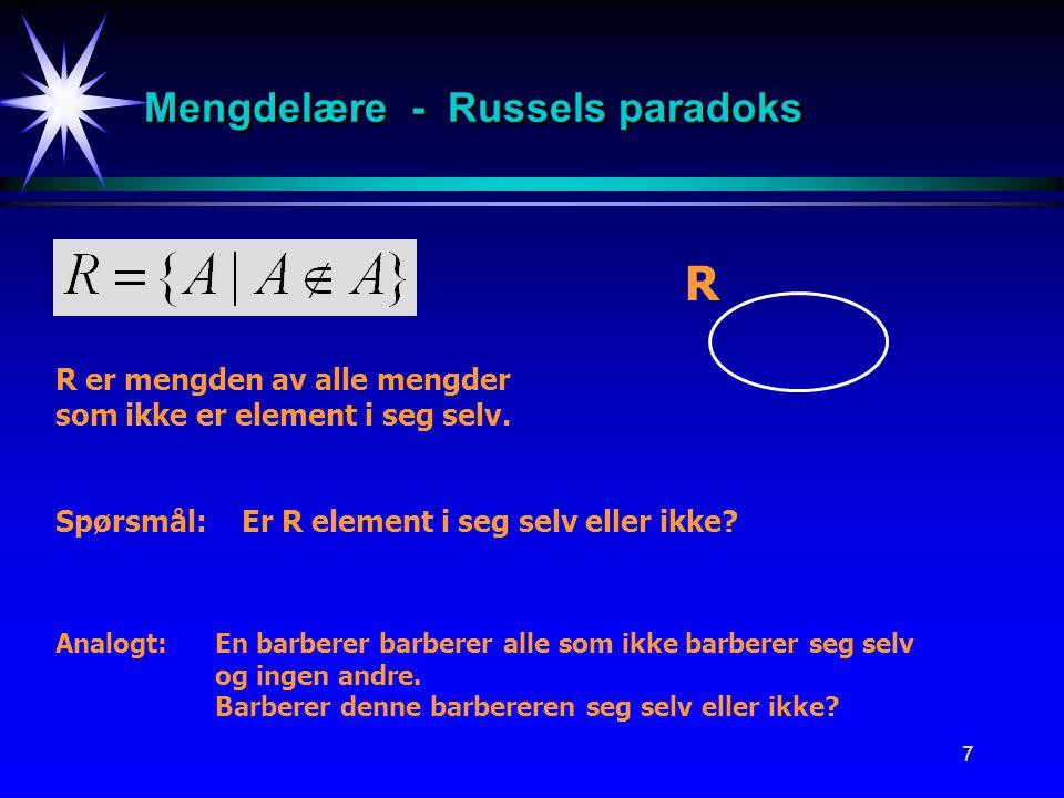 Mengdelære - Russels paradoks