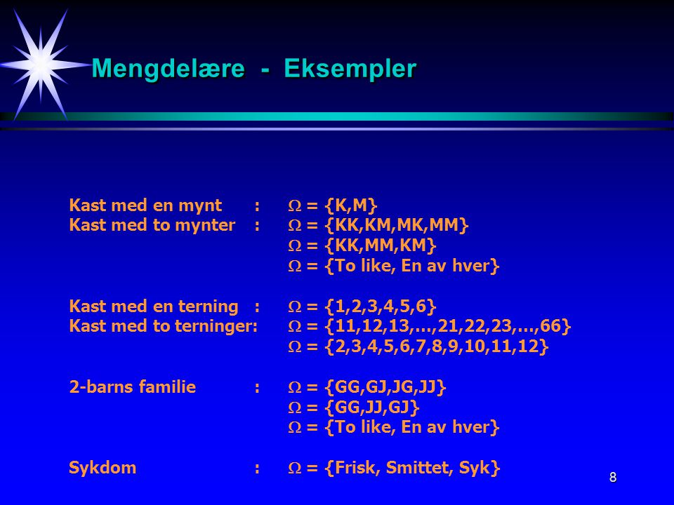 Mengdelære - Eksempler