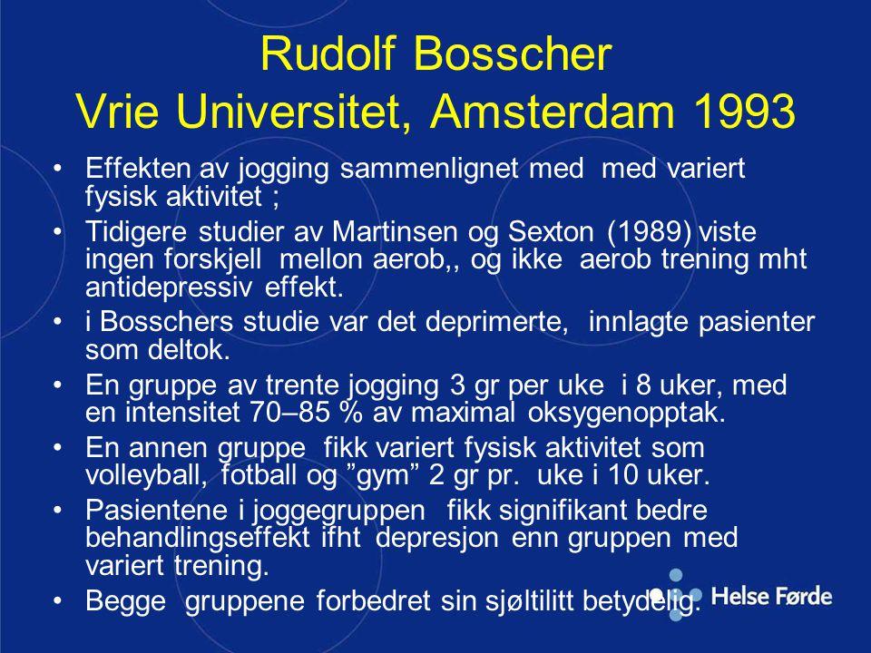 Rudolf Bosscher Vrie Universitet, Amsterdam 1993