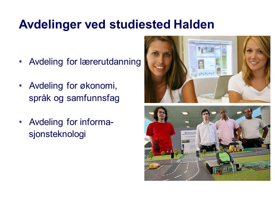 Avdelinger ved studiested Halden