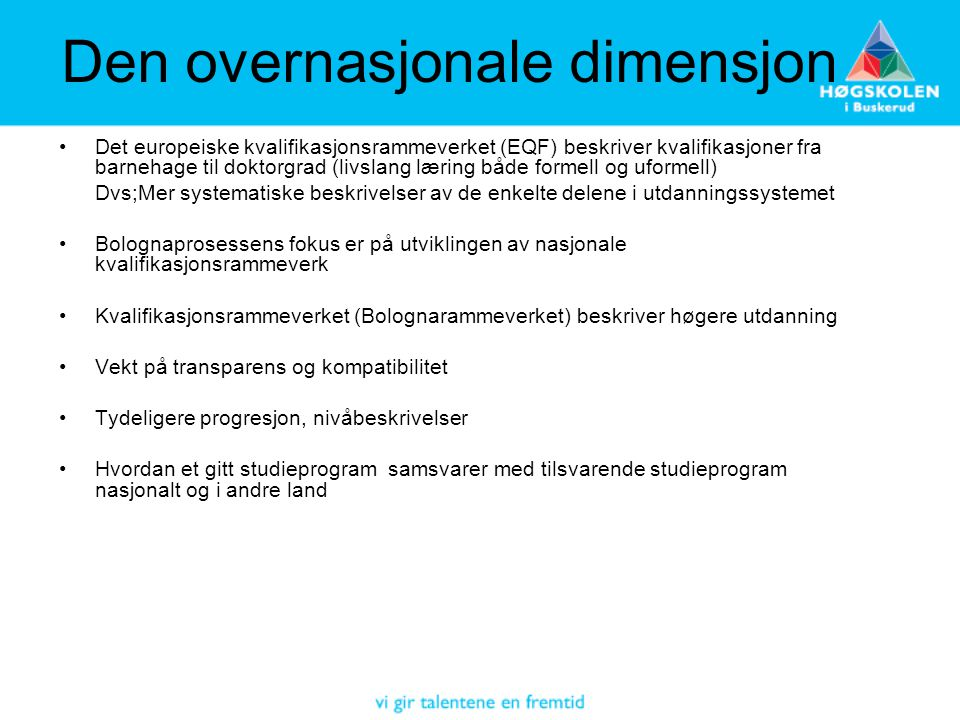 Den overnasjonale dimensjon