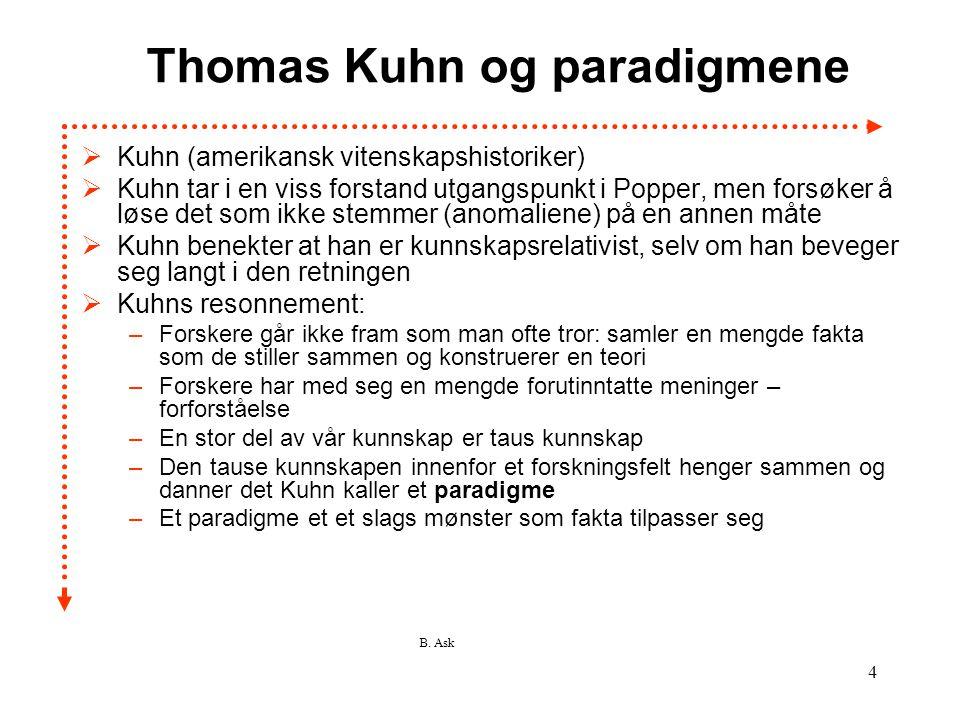 Thomas Kuhn og paradigmene