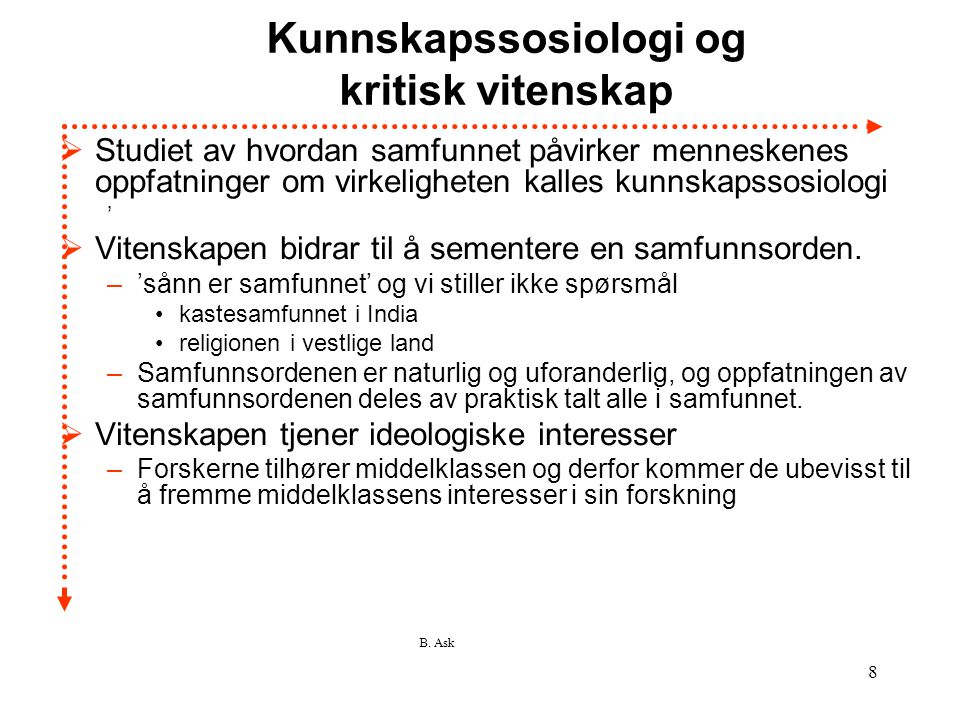 Kunnskapssosiologi og kritisk vitenskap