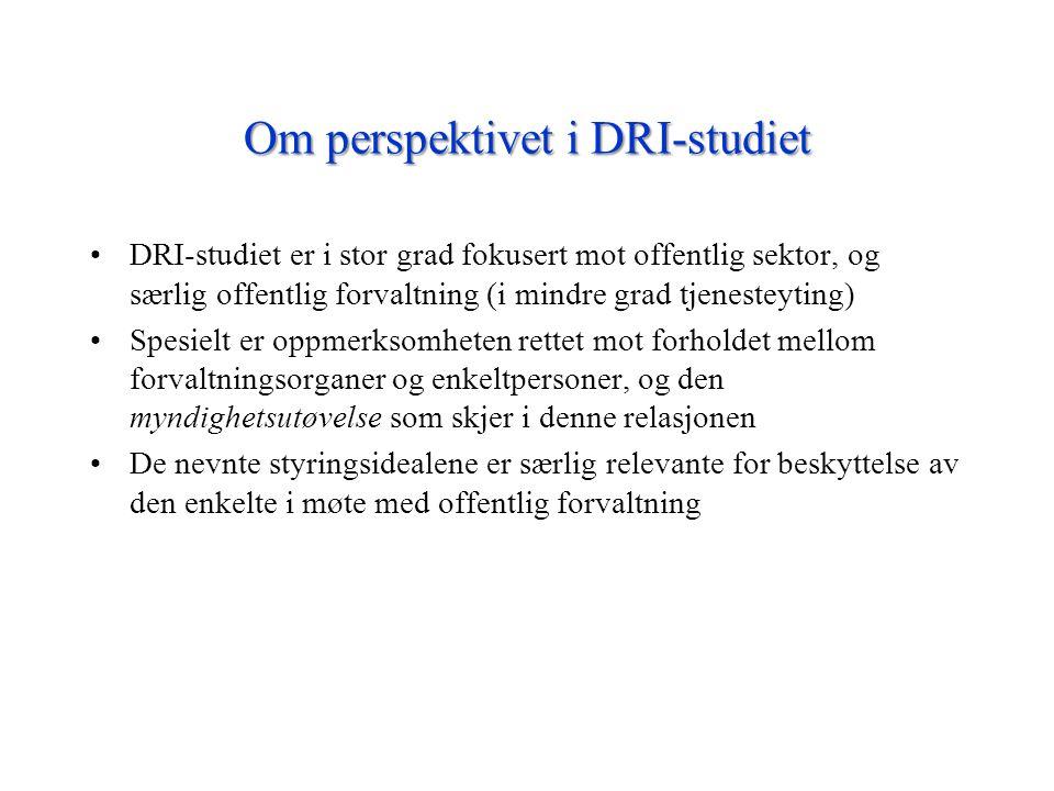 Om perspektivet i DRI-studiet