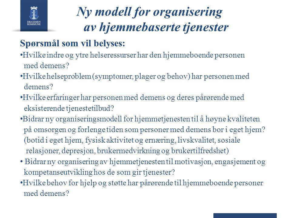 Ny modell for organisering av hjemmebaserte tjenester