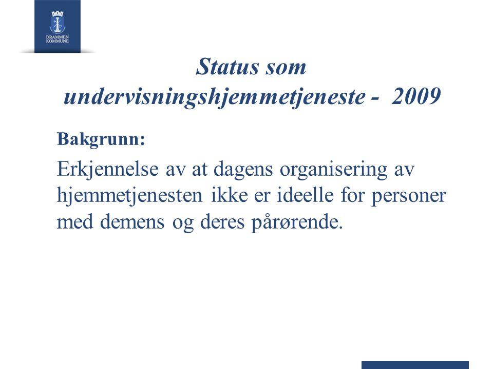 Status som undervisningshjemmetjeneste - 2009