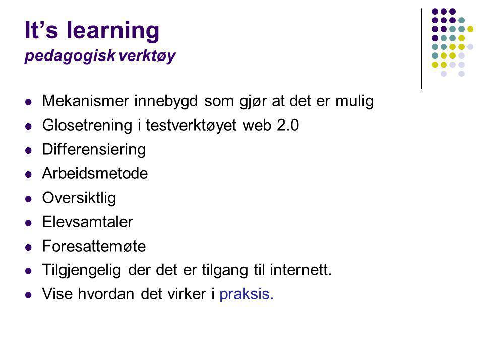 It's learning pedagogisk verktøy