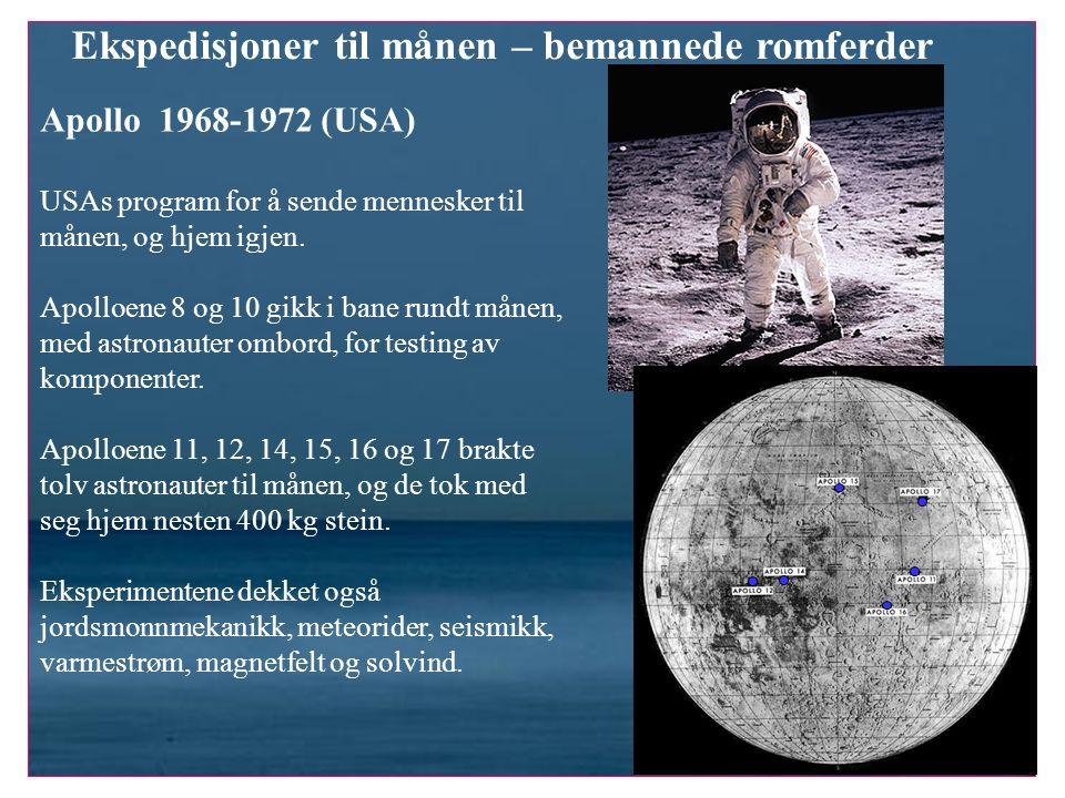 Ekspedisjoner til månen – bemannede romferder