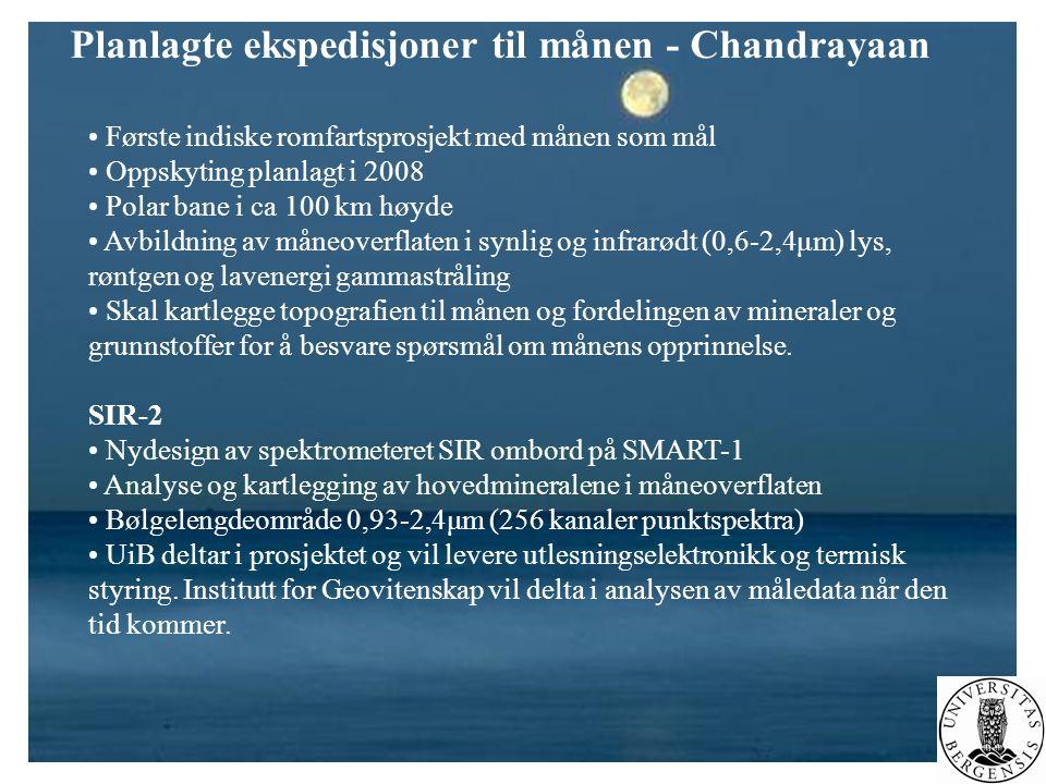 Planlagte ekspedisjoner til månen - Chandrayaan
