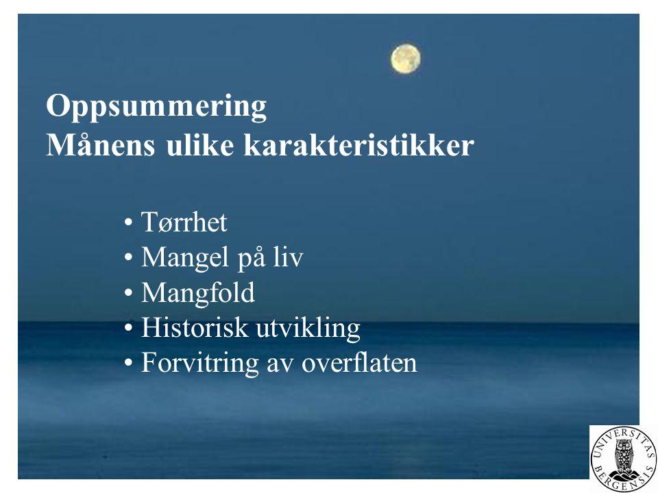Månens ulike karakteristikker