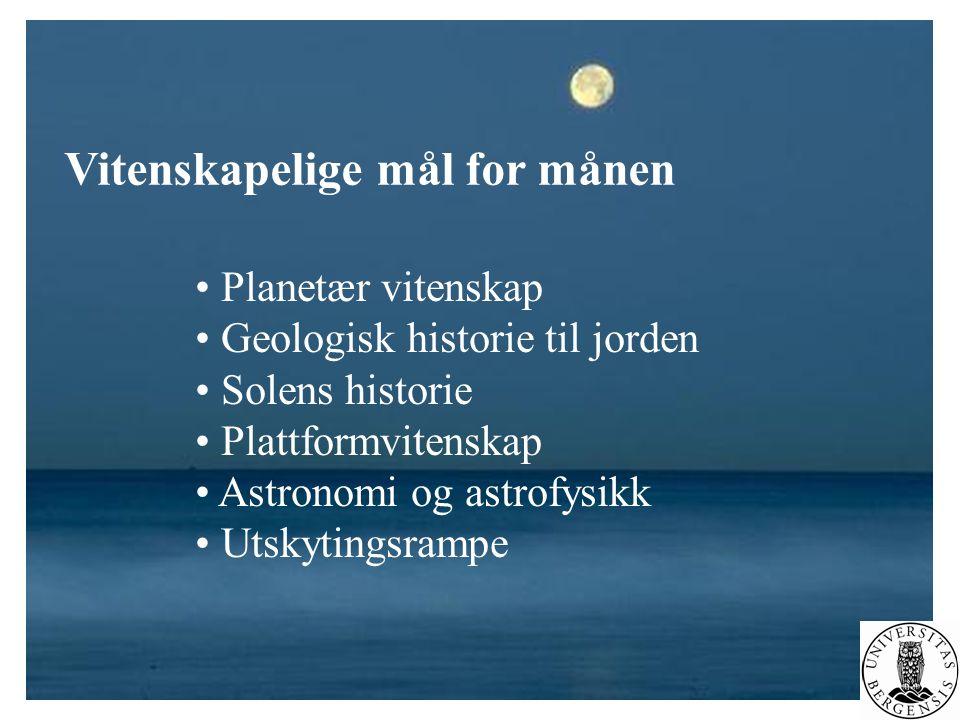 Vitenskapelige mål for månen