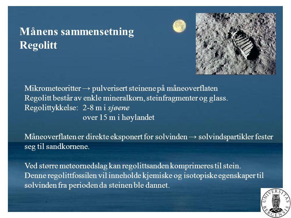 Månens sammensetning Regolitt