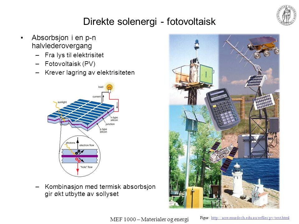 Direkte solenergi - fotovoltaisk