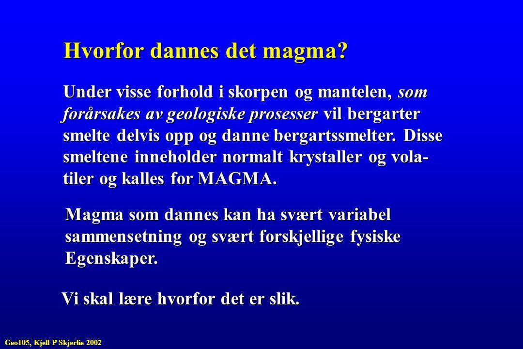 Hvorfor dannes det magma