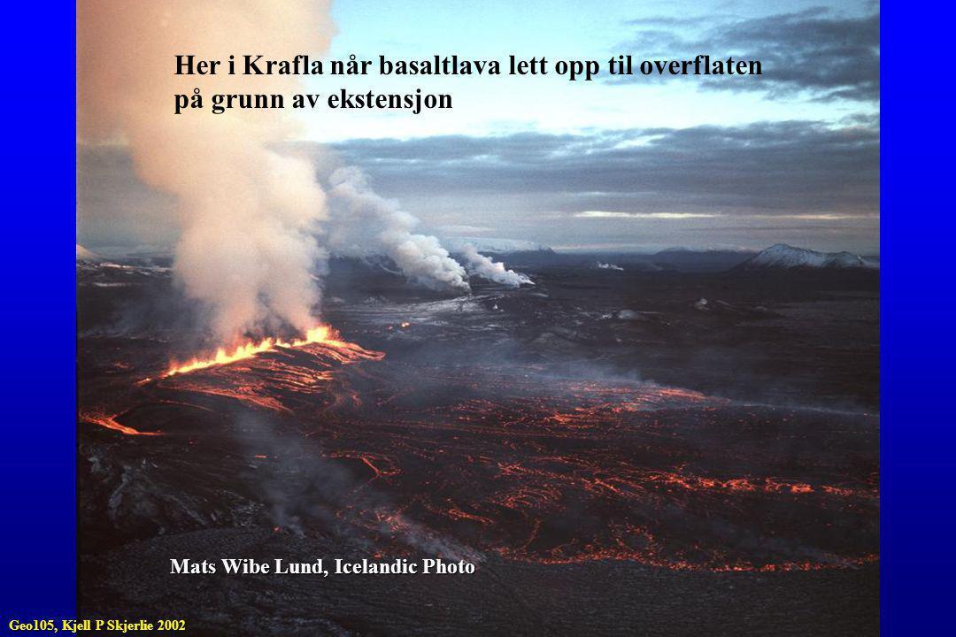 Her i Krafla når basaltlava lett opp til overflaten