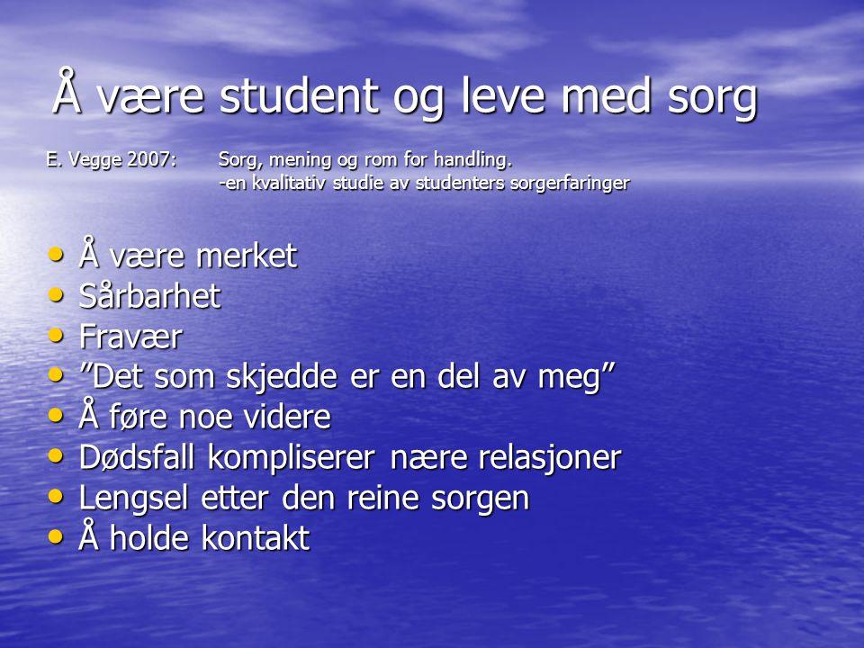 Å være student og leve med sorg