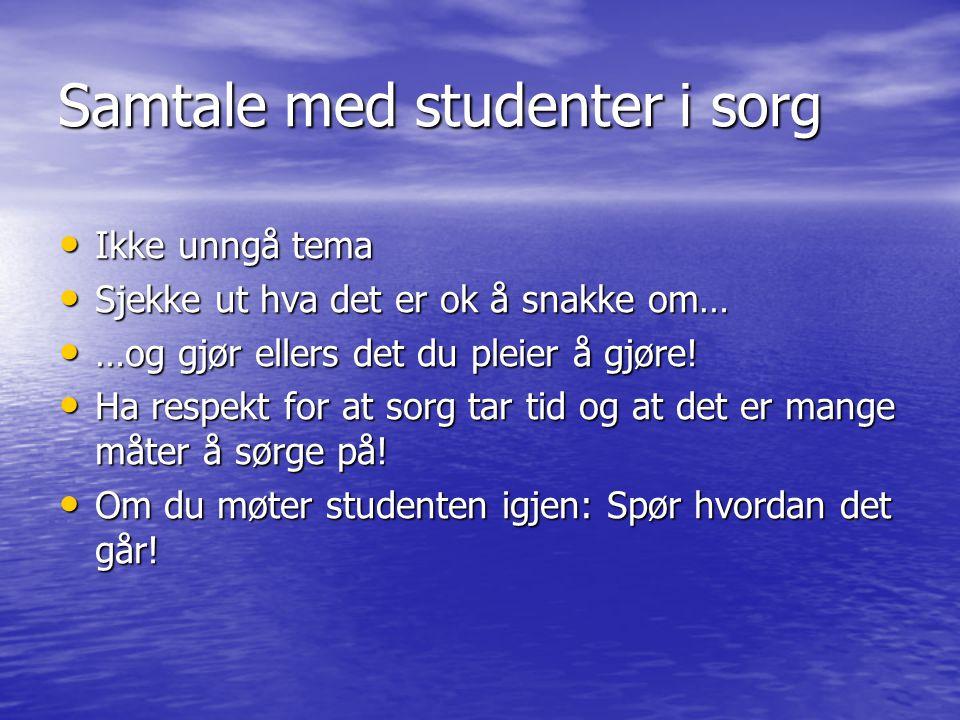 Samtale med studenter i sorg